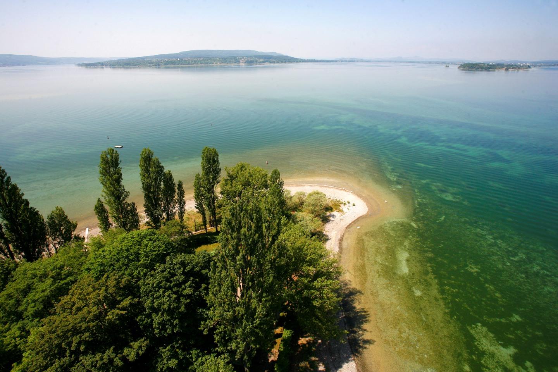 Westende der Insel, Sommer, Luftbild, Reichenau