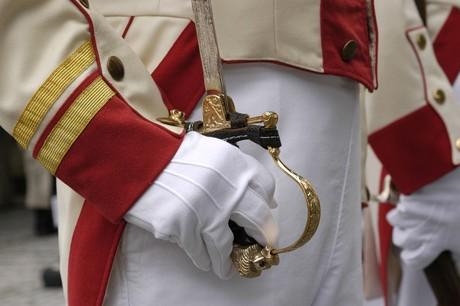 Bürgerwehr Hand der Offiziers