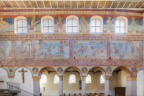 Wandmalereien Südwand in der Kirche St. Georg, Reichenau