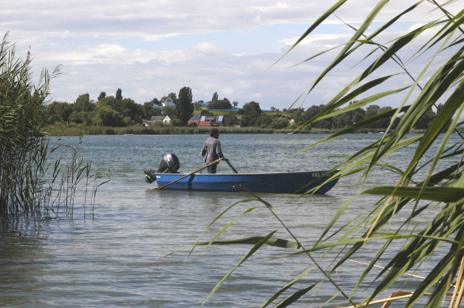 Fischer im Gnadensee