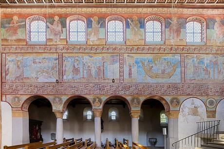 Wandmalereien Nordwand in der Kirche St. Georg, Reichenau